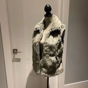 Zara Faux Fur Vest with Hidden Front Hooks